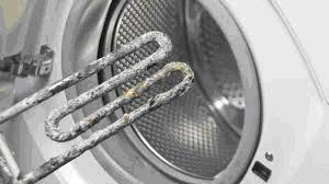 Kalk am Heizstab einer Waschmaschine